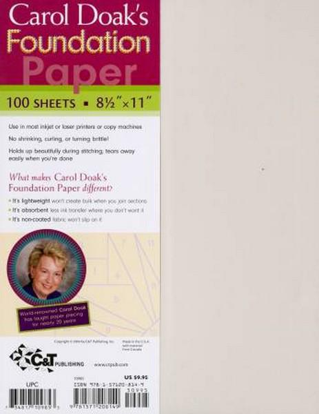 Carol Doak's Foundation Paper at The Quilt Store in Canada
