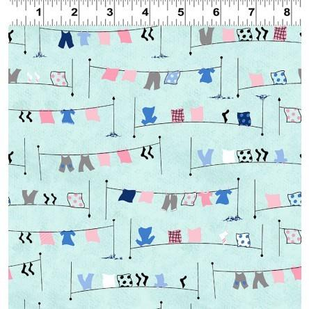 Tiny Print Nation Clothesline available in Canada at The Quilt Store
