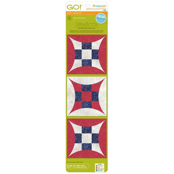 Accuquilt Glorified 9 Patch Block on Board available in Canada at The Quilt Store