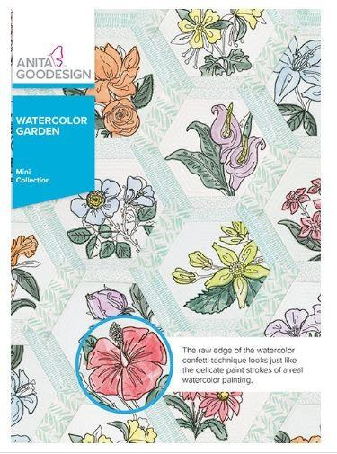 Anita Goodesign Watercolor Garden available in Canada at The Quilt Store