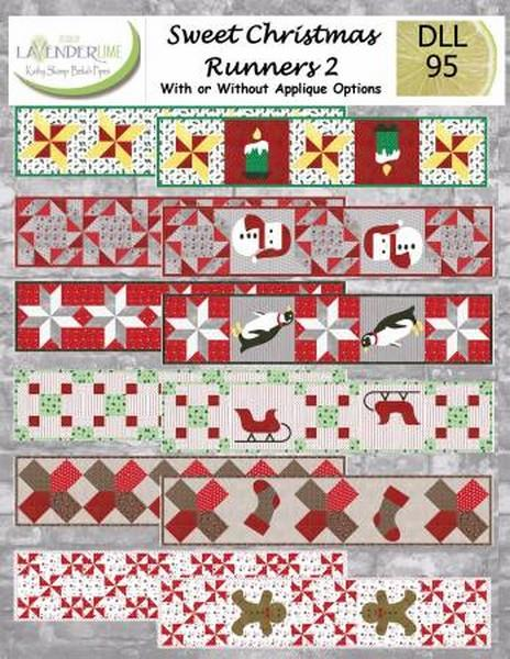 Sweet Christmas Runners 2 by Lavender Lime available at The Quilt Store in Canada