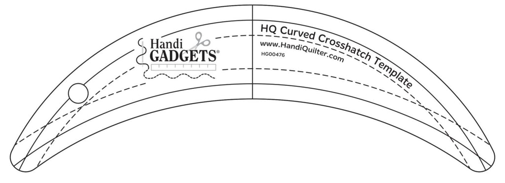 Handi Quilter Curved Crosshatch Ruler available in Canada at The Quilt Store