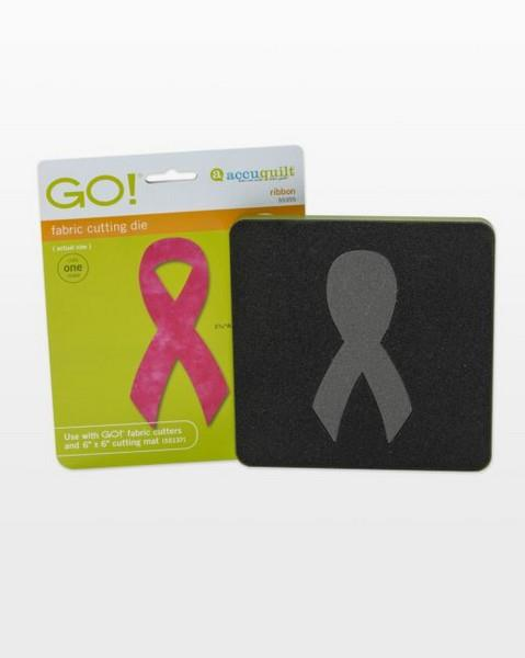 Accuquilt Awareness Ribbon Die available in Canada at The Quilt Store