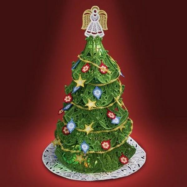 OESD Freestanding Christmas Tree with Ornaments