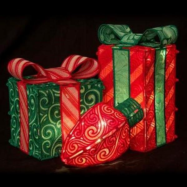 OESD Freestanding Holiday Boxes and Bulbs