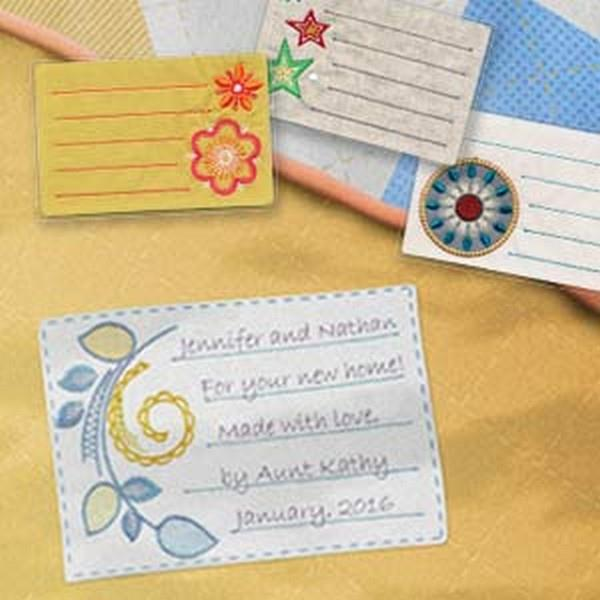 OESD Memorable Quilt Labels