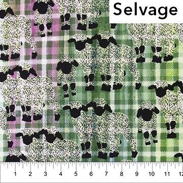 Kilts and Quilts Green Sheep available in Canada at The Quilt Store