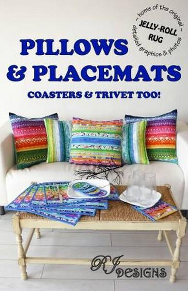 Jelly-Roll Pillows & Placemats Pattern available at The Quilt Store