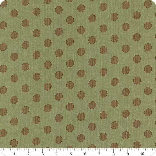 Harvest Road Dots Sage & Chestnut by Lella Boutique available in Canada at The Quilt Store