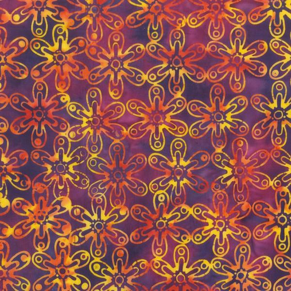 Anthology Batik Daisy available in Canada at The Quilt Store