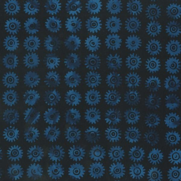 Anthology Batik Blue Gear available in Canada at The Quilt Store