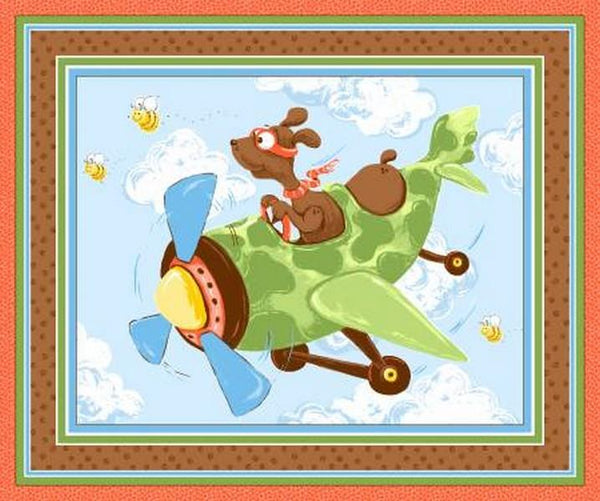 Zig Flying Ace Playmat by Susybee available in Canada at The Quilt Store