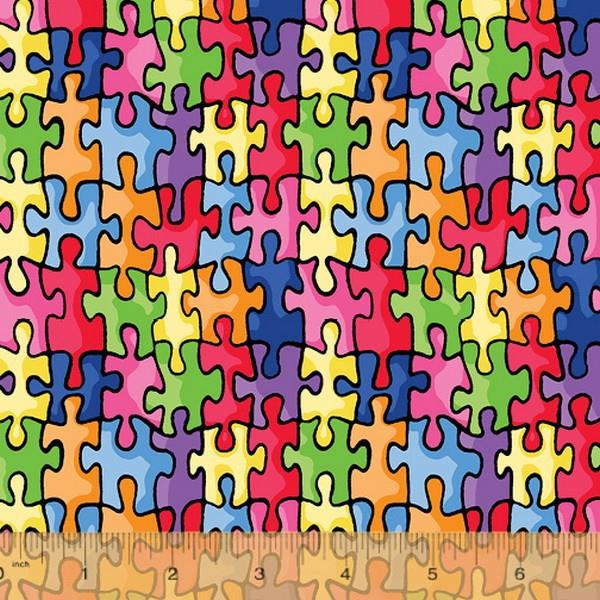 Autism Awareness Fabric available in Canada at The Quilt Store