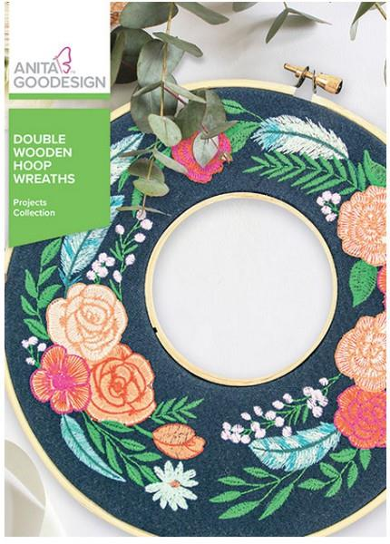 Anita Goodesign Double Wooden Hoop Wreaths available in Canada at The Quilt Store