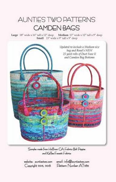 Camden Bag Pattern available in Canada at The Quilt Store
