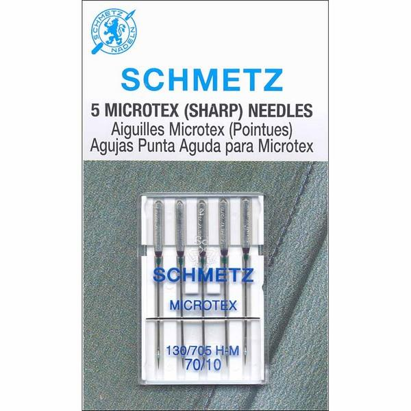 Schmetz Microtex Needles 70/10 available in Canada at The Quilt Store