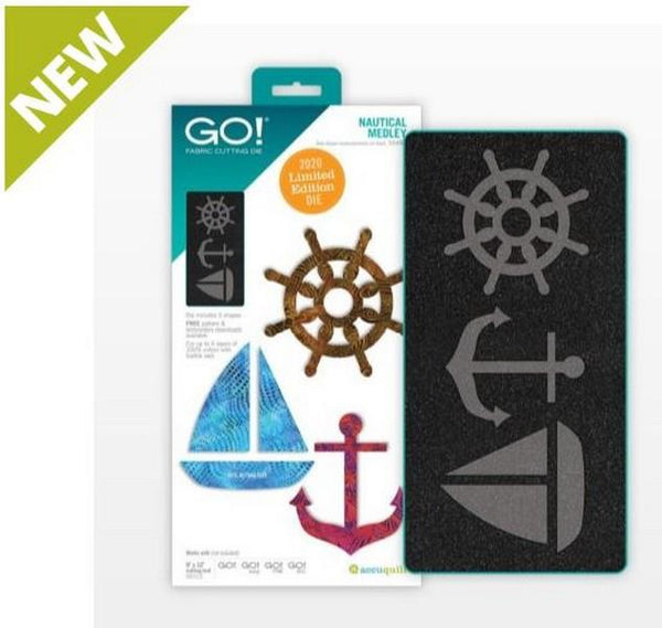 GO! Nautical Medley Die available in Canada at The Quilt Store
