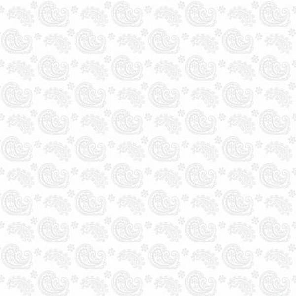 Cookie Dough Paisley White By Wilmington Fabrics available in Canada at The Quilt Store
