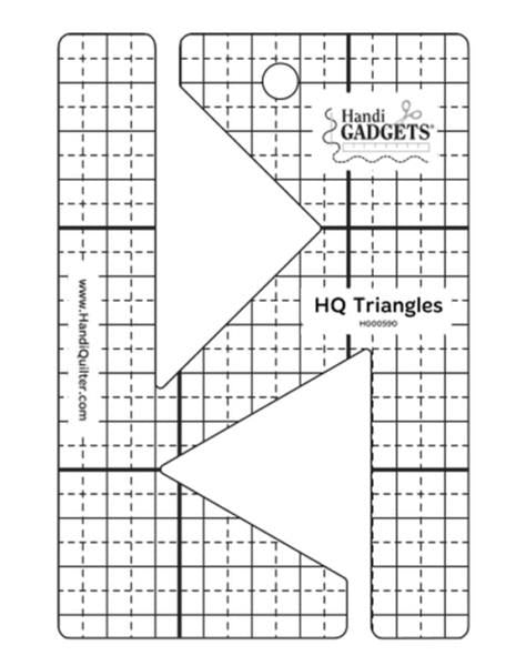 HQ Triangles Ruler available in Canada at The Quilt Store