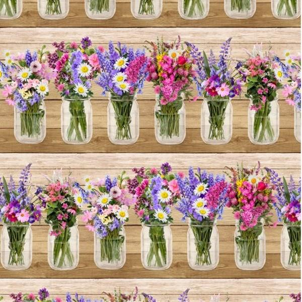 Spring Beauty Wild Flowers by Timeless Treasures at The Quilt Store