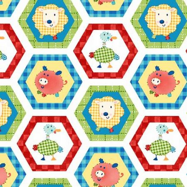 Little Red Barn Hexagon Block at The Quilt Store in Canada