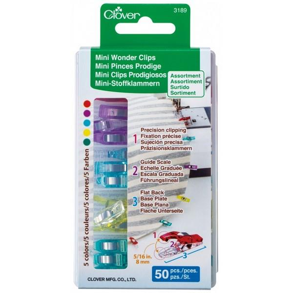 Clover Mini Wonder Clips Assorted available at The Quilt Store in Canada