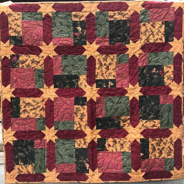 Cardinal Reflections Flannel Quilt
