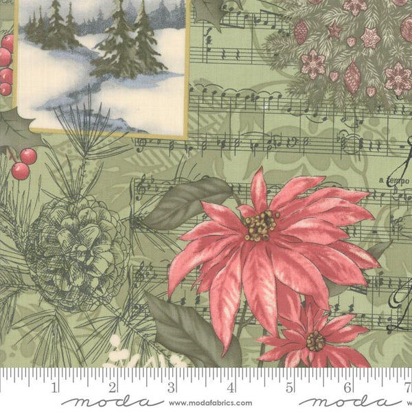 Marches de Noel Mistletoe Feature by 3 Sisters for Moda at The Quilt Store in Canada