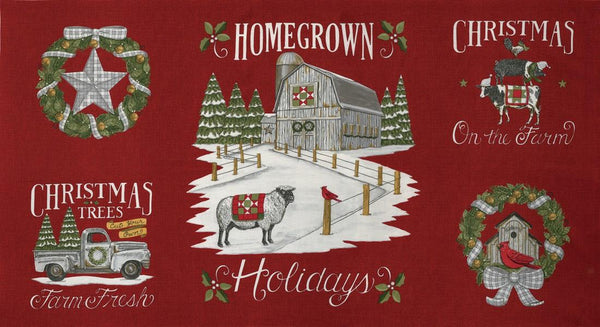 Homegrown Holidays Panel by Deb Strain for Moda available in Canada at The Quilt Store