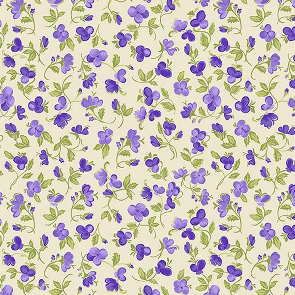 Accent on Pansies by Jackie Robinson for Benartex available in Canada at The Quilt Store