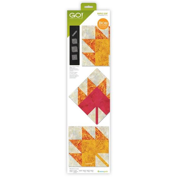 Accuquilt GO! Maple Leaf Block on Board available in Canada at The Quilt Store
