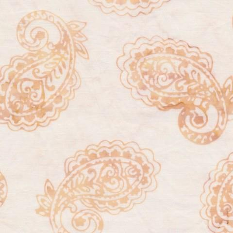 Anthology Batik Fabric Cream with Tan Paisley