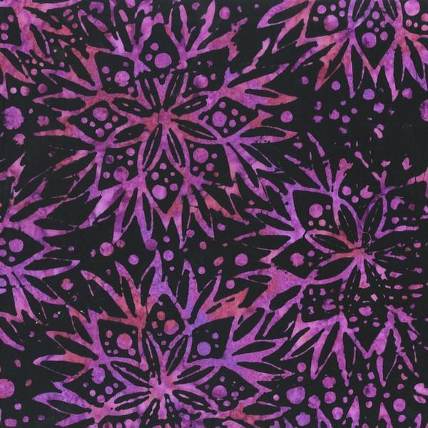 Anthology Fabrics Batik Floral Dark Purple