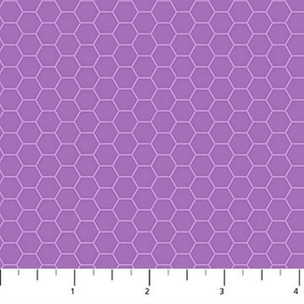 Chelsea Honeycomb purple by Northcott available in Canada at The Quilt Store