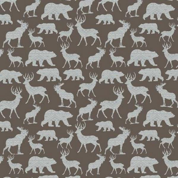 Modern Lodge Silhouette Brown by Benartex available in Canada at The Quilt Store
