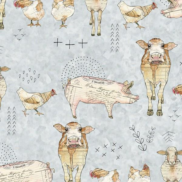 Farm Life Animal Toss by QT Fabrics available in Canada at The Quilt Store
