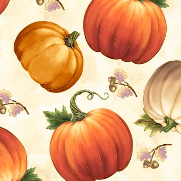 Harvest Elegance Pumpkins by QT Fabrics available at The Quilt Store