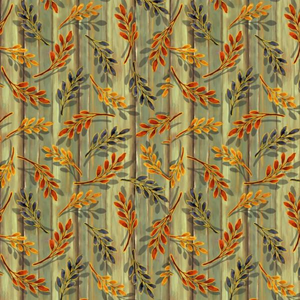 Harvest Elegance Leaf Sprigs by QT Fabrics available at The Quilt Store