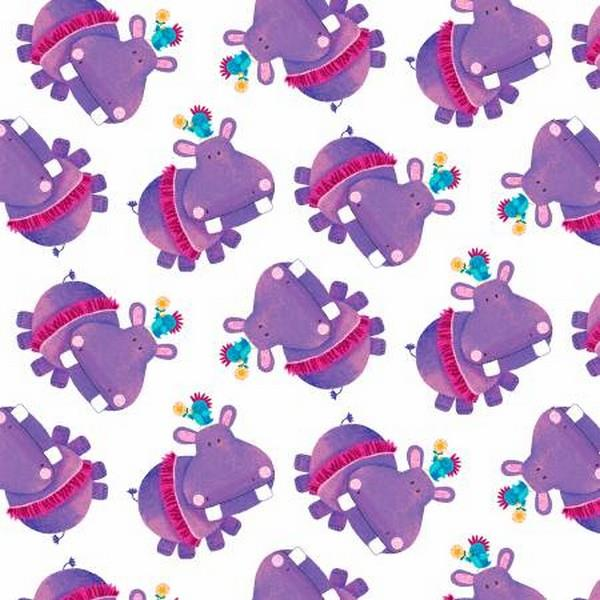 Numbers in the Jungle Hippos by Henry Glass & Co. available in Canada at The Quilt Store