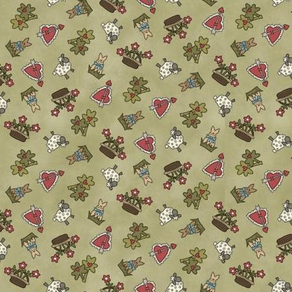 My Red Wagon Spring Green by Henry Glass & Co. available in Canada at The Quilt Store