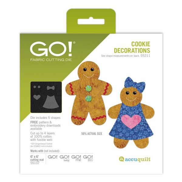 Accuquilt GO! Cookie Decorations Die available in Canada at The Quilt Store