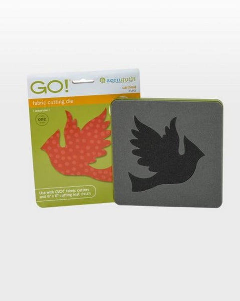 Accuquilt GO! Cardinal Die available in Canada at The Quilt Store