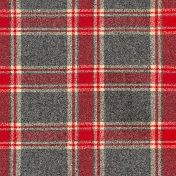 Mammoth Flannel Red, Cream & Grey available at The Quilt Store in Canada