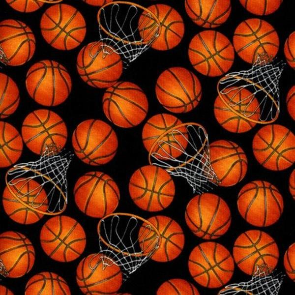 Basketballs & Hoops by Timeless Treasures available in Canada at The Quilt Store