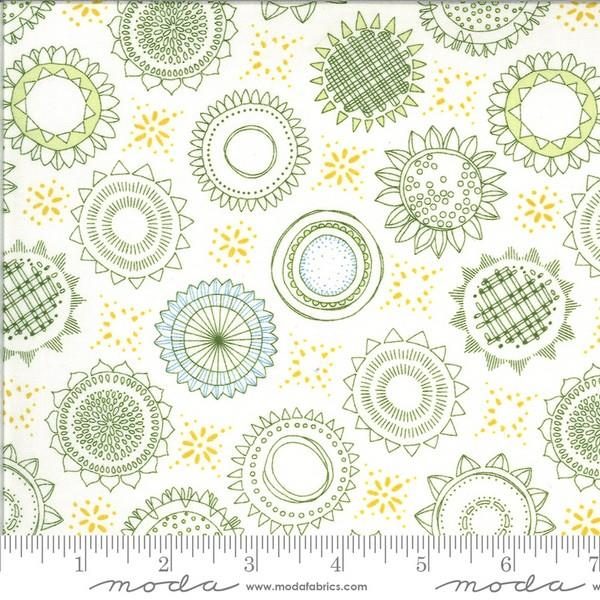 Solana Cream Flowers by Robin Pickens for Moda available at The Quilt Store in Canada