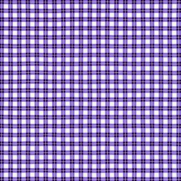 Elizabeth Purple Check by Robert Kaufman at The Quilt Store in Canada