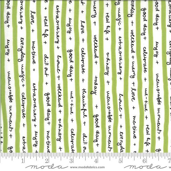Quotation Word Stripe by Zen Chic for Moda available in Canada at The Quilt Store