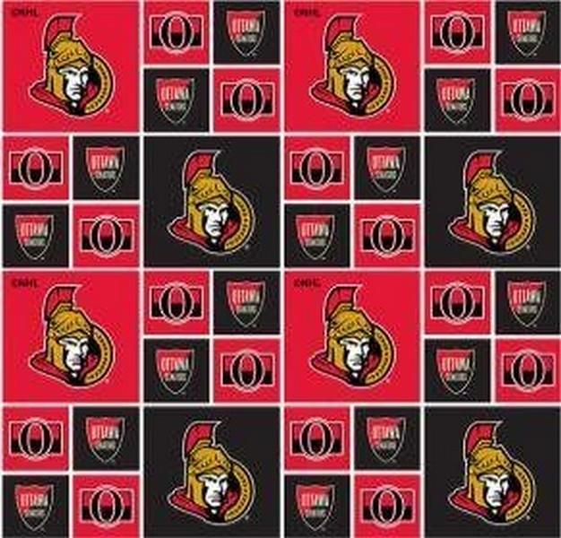 NHL Ottawa Senators by Sykel available in Canada at The Quilt Store