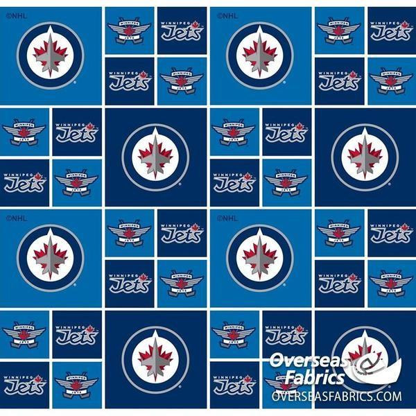 NHL Winnipeg Jets by Sykel available in Canada at The Quilt Store