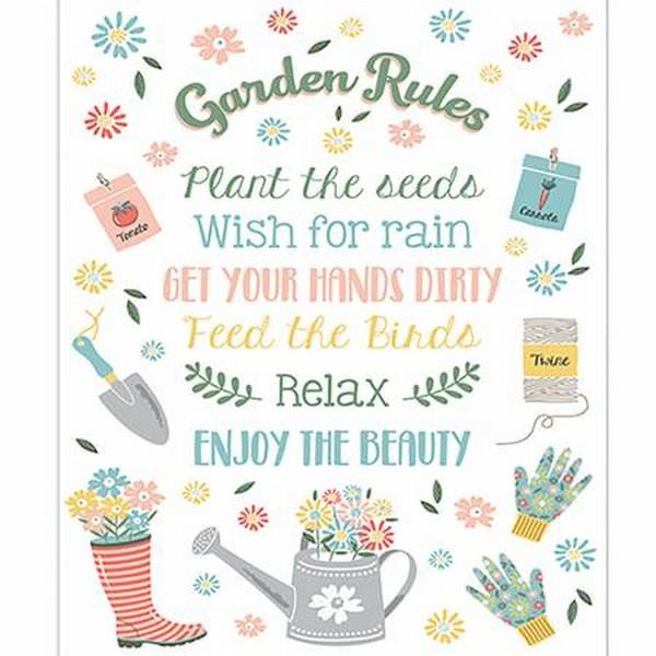 Wish For Rain - Garden Rules Panel by Camelot Fabrics available in Canada at The Quilt Store